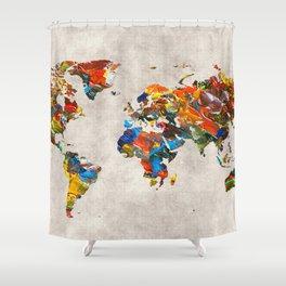 World Map 43 Shower Curtain