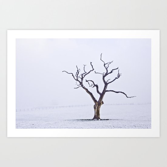 Tree in the Mist Art Print