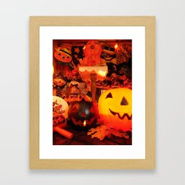 Vintage Halloween Glow Framed Art Print