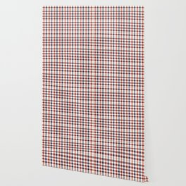 Plaid Red White And Blue Lumberjack Flannel Design Wallpaper