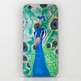 Watercolor Peacock iPhone Skin