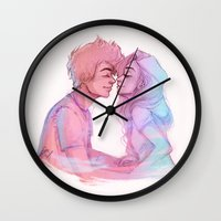 laia Wall Clocks featuring Lilac Sky by Laia™