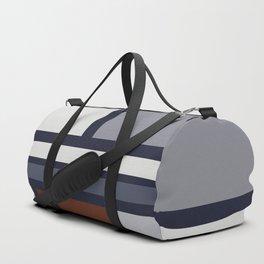 Navy and Rust Rectangle Shapes IIB Duffle Bag