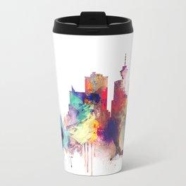Vancouver Watercolor Skyline Travel Mug