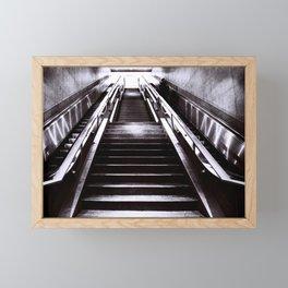 Silver Stairway Framed Mini Art Print