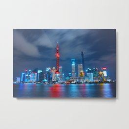 Shangai, China Metal Print