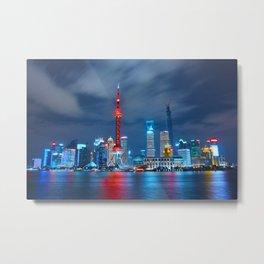 Shangai, China Metal Print