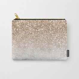 Sparkle - Gold Glitter and Marble Carry-All Pouch