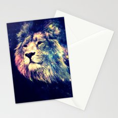 Galaxy Lion : Deep Pastels Stationery Cards