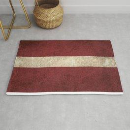 Old and Worn Distressed Vintage Flag of Latvia Rug