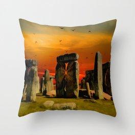 Stonehenge Fantasy Throw Pillow