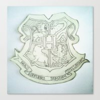 hogwarts Canvas Prints featuring Hogwarts by Harry Potter