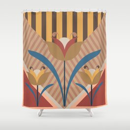Stripes and flowers Shower Curtain