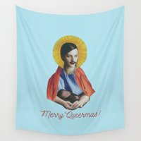 writing Wall Tapestries featuring Merry Queermas (Writing) by fabiotir