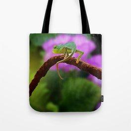 Floral Baby Chameleon Tote Bag