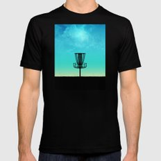Disc Golf Basket Silhouette MEDIUM Mens Fitted Tee Black
