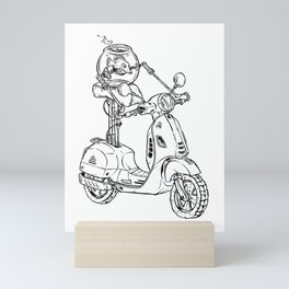 Courtney Throws Caution to the Wind Mini Art Print
