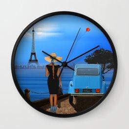 Love in Paris Wall Clock