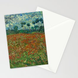 Vincent van Gogh - Poppy Field (1890) Stationery Cards
