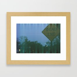 Dead End Framed Art Print