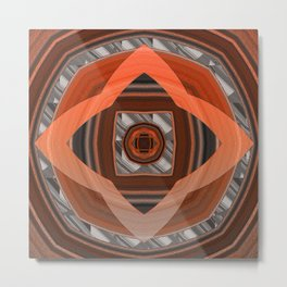 Glowing Mahogany Elegant Geometric Metal Print