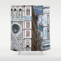 florence Shower Curtains featuring Florence  by Chernyshova Daryna