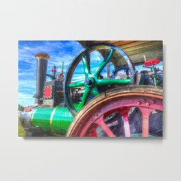 Clayton and Shuttleworth Traction Engine Art Metal Print