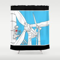 wind Shower Curtains featuring Wind  by Jonas Ericson