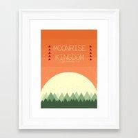 moonrise kingdom Framed Art Prints featuring Moonrise Kingdom by Courtney Vlaming