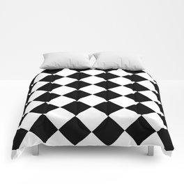 Large Diamonds - White and Black Comforters