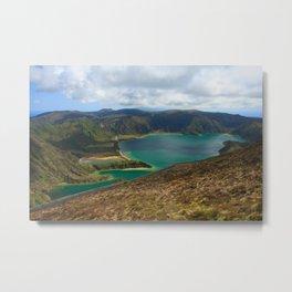 Lake in Azores islands Metal Print