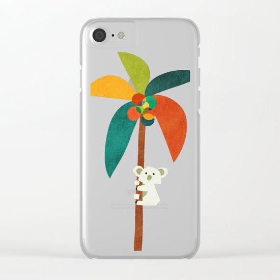 Koala on Coconut Tree Clear iPhone Case