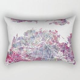 Auckland map Rectangular Pillow