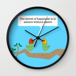 Birds of Wisdom #2 Wall Clock