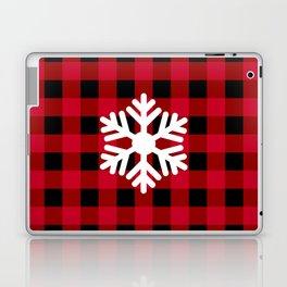 Red Buffalo Check - snowflake - more colors Laptop & iPad Skin