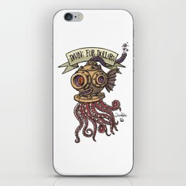 Octopus Diver iPhone Skin