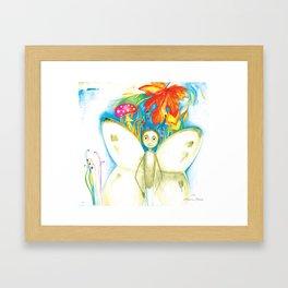 """Cover illustration for the children's book """"Small White"""" Framed Art Print"""