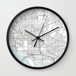 Washington DC map Wall Clock