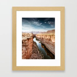 on top of the canyonland Framed Art Print