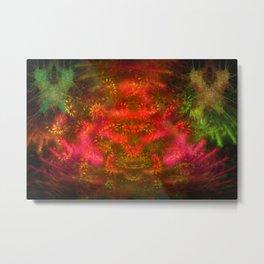 Luminous Fireplace Metal Print