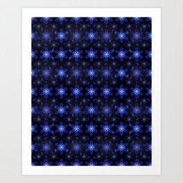 Snowflake Infinite Pattern Art Print