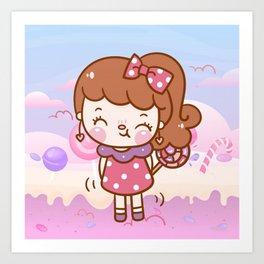 Princess Candy Art Print