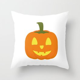Classic light Halloween Pumpkin Throw Pillow