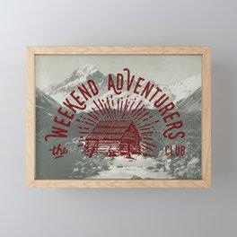 Weekend Adventurers Club Framed Mini Art Print