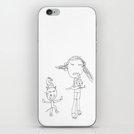 Girl and the Tom Cat iPhone Skin