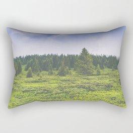 Infinite forest landscape Rectangular Pillow