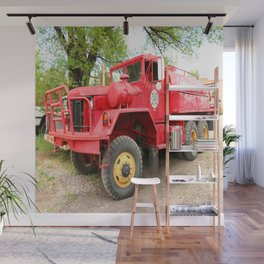 Fire Deparment Truck At Chama Station Wall Mural
