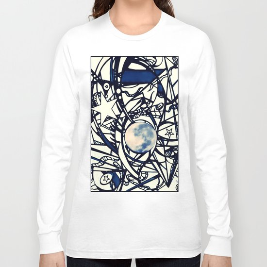 Moon Scaffolding Long Sleeve T-shirt