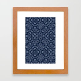 Indigo Tile Framed Art Print