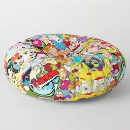 Childhood Cartoons Floor Pillow